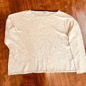 Halston cream colored sweater